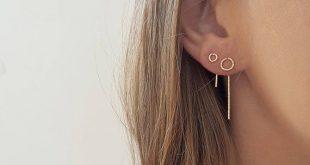 Tiny Simple Silver earrings, wire earrings, gold filled small earrings, handmade earrings, everyday