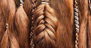 "Viking Hair Jewelry, Viking Hair Beads, Viking jewelry, Braid Beads, Hair Clips, Custom ""FairyTail"" Wire-Wrapped Hair Cuff"