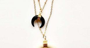 necklace set gold jewellry layered necklaces boho boho jewelry layered chains ne...