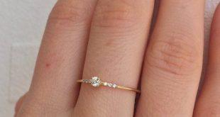 14K Gold Ring Diamond Engagement Ring Solitare Diamond Ring
