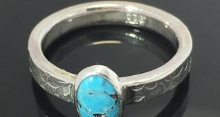 Turquoise Ring, Silver Ring, Sterling Silver, Natural Turquoise, Natural Untreated Turquoise Ring, S