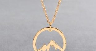 Mountain Range Necklace Charm Jewelry