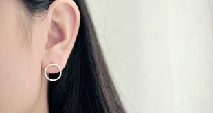 925 sterling silver earrings simple circles stud earrings sterling silver jewelry pendientes mujer brincos ves6007