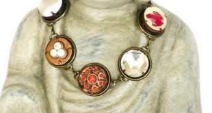 Boho Armband bronze rot, Unikat Gliederarmband, Vintage Style Armschmuck, ausgefallener Schmuck