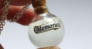 Details zu Snapes Erinnerungen Tränen in einer Flasche Charm-Anhänger-Halskette - Harry Potter Jewelry