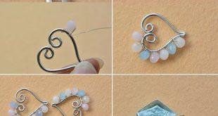 Drahtwicklung Herz Perlen Charms Armband DIY #armband #charms #drahtwicklung #p...
