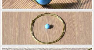 Einfaches Tutorial zur Herstellung einfacher Ohrmanschette: #wirejewelry