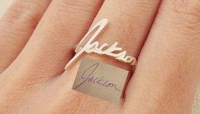 GRANDMA GIFT • Handwriting Ring • Custom Actual Signature Ring • Handwriting personalisierter Keepsake Schmuck • Mutter in Rechts-Geschenk • RM01