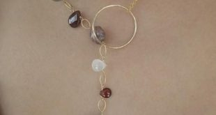 Gemstone Lariat Necklace