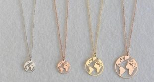 Globe necklace, Rose gold globe necklace, Earth Necklace, Boho Jewelry, Silver Necklace, Globe Pendant, Globe Choker, World Map Necklace