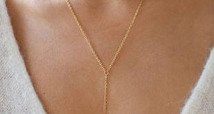 Goldene Halskette Set / Gold lange Halskette / Y Halskette / Zirkonia Halskette / Brautjungfer Geschenk /Layering Halskette Halsband Set