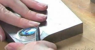 How to Set a stone or jewel into a bezel for jewelry