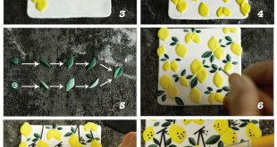 How to make polymer clay slab earrings