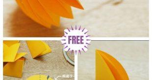 Kinder Basteln Easy Origami Paper Umbrella DIY Tutorial
