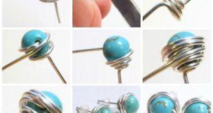 Kostenlose DIY: Wie Draht gewickelt Perlenohrstecker! Sehen Sie sich das Tutoria...