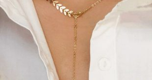Leaf Detail Lariat Necklace 1pc | SHEIN