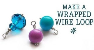 Learn how to create a wrapped wire loop - a basic technique in jewelry-making. U...