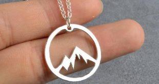 Mountain Range Necklace Charm Jewelry