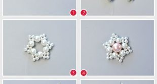 Pandahall Original DIY Project - How to Make a Pretty Pearl Beaded Flower Neckla...