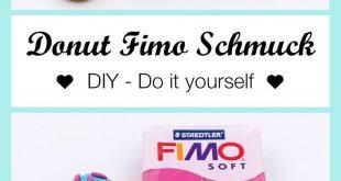 Schmuck aus Fimo Donuts selber machen - DIY Anleitung
