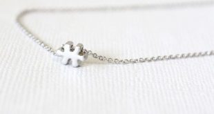 Silver Dainty Necklace - Puzzle piece necklace - Everyday necklace - Simple Necklace - Wedding gift
