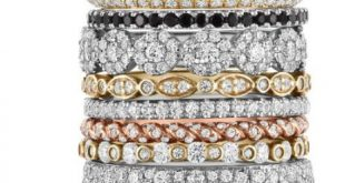Stack is the new black. Stackable diamond rings from A.JAFFE.