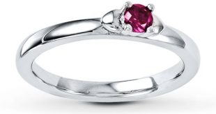 Stackable Ring Lab-Created Ruby Sterling Silver
