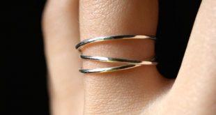 Sterling Silber Wickelring, Sterling Silber Wickelring, Wickelring, Silberstapel Ring, Silberpack-Ring, Silberwickel um Ring