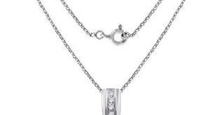 Sterling Silver Pendant For Women   Birthstone Pendant   1.8 Carat White Topaz Engagement Pendant by Orchid Jewelry   Simple. Beautiful. Affordable