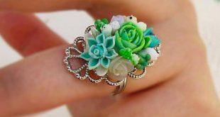Succulent ring Cute green ring Succulents jewelry Terrarium botanical ring Unique plant ring Succul