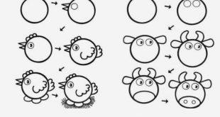 Tiere leicht zu zeichnen ...  #leicht #tiere #zeichnen