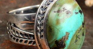 Turquoise Ring, Nature Leaf Ring, 925 Sterling Silver Ring, Boho Ring for Women,...