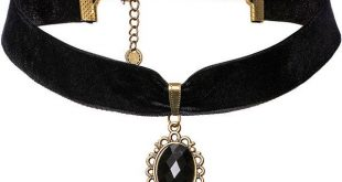 Velvet Stone Choker (Black) ❤ liked on Polyvore featuring jewelry, necklaces, ...