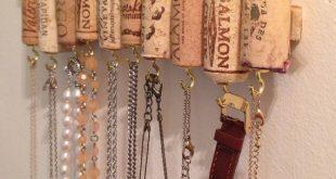 Wein Korken Halskette Rack
