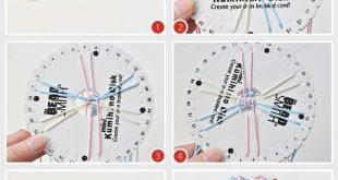 Wie man ein einfaches Kumihimo-Armband mit Nylonfaden macht Dies ist eine ausführliche Anleitung