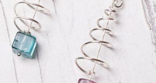 Wire Weihnachtsbaum Ohrringe Tutorial & Kit