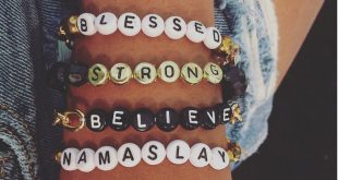 Wort Armbänder Brief Perlen Armbänder gesegnete Armband starke Armband Namasla...