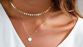 Zierliche Halsband Halskette, Gold Halsband, Halsband Halskette, in Sterling Silber, Gold gefüllt, perfekte Schichtung Halskette