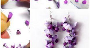#aus #fimo #Flower #macht #man #Ohrringe